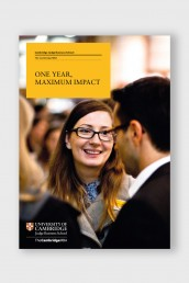 Cambridge Judge MBA Brochure